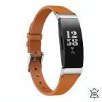 Fitbit inspire hr bandje leer bruin – Onlinebandjes.nl