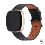 Fitbit versa 3 bandjes leer zwart – Onlinebandjes.nl