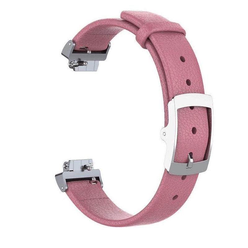 fitbit inspire bandje leer roze - Onlinebandjes.nl