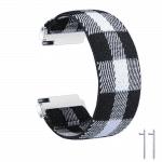 fitbit versa bandje elastisch canvas zwart wit – Onlinebandjes.nl