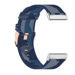 Fitbit Sense bandje canvas lichtblauw – Onlinebandjes.nl