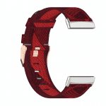Fitbit Versa 3 canvas bandje rood – Onlinebandjes.nl