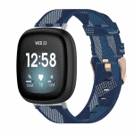 Fitbit Versa3 bandje canvas blauw – Onlinebandjes.nl