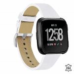Fitbit versa 2 bandje leer wit – Onlinebandjes.nl
