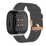 Fitbit versa 3 bandje canvas donkergrijs – Onlinebandjes.nl