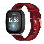 Fitbit versa 3 bandje canvas rood – Onlinebandjes.nl