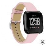 Fitbit versa bandje leer roze – Onlinebandjes.nl