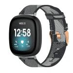 Fitbit versa3 bandje canvas zwart:grijs – Onlinebandjes.nl