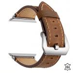 Apple Watch bandje leer bruin – Onlinebandjes.nl