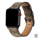 Apple Watch bandje leer koffie:bruin – Onlinebandjes.nl