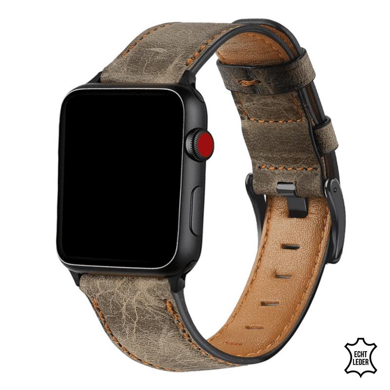 Apple Watch bandje leer koffie:bruin - Onlinebandjes.nl