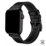 Apple Watch bandje leer zwart – Onlinebandjes.nl