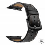 Apple Watch bandje zwart – zwarte gesp – Onlinebandjes.nl