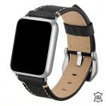 Apple watch 5 bandje leer zwart – Onlinebandjes.nl