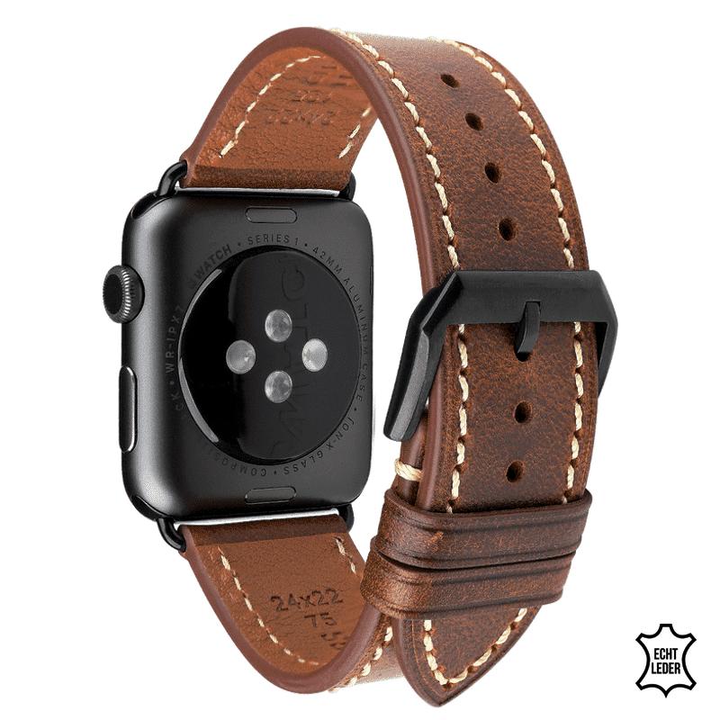 Apple watch bandje 38 mm leer lichtbruin