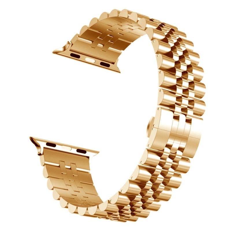 Apple watch bandje RVS roze goud - Onlinebandjes.nl