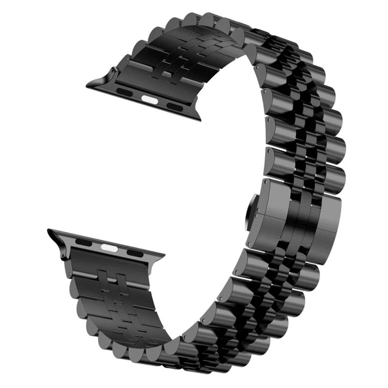 Apple watch bandje RVS zwart - Onlinebandjes.nl