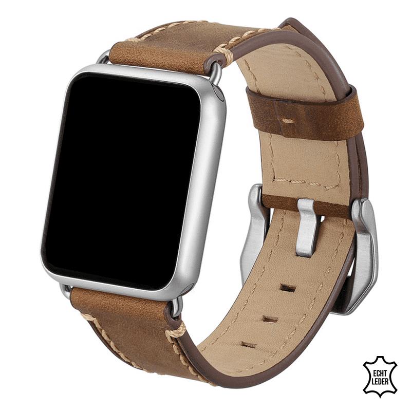 Apple watch bandje bruin leer - Onlinebandjes.nl