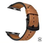 Apple watch bandje leer – zwarte gesp – Onlinebandjes.nl