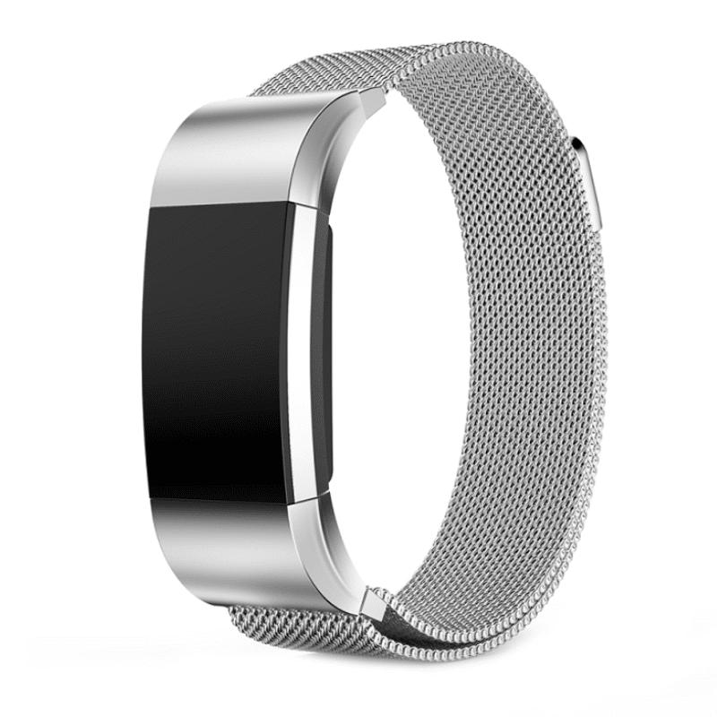 Fitbit Charge 2 bandje milanees zilver - Onlinebandjes.nl