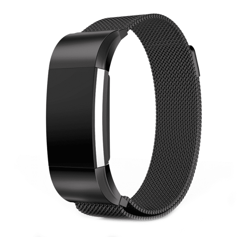 Fitbit Charge 2 milanese bandje zwart - Onlinebandjes.nl