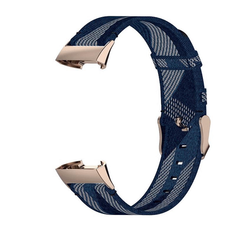 Fitbit Charge3 canvas blauw - Onlinebandjes.nl
