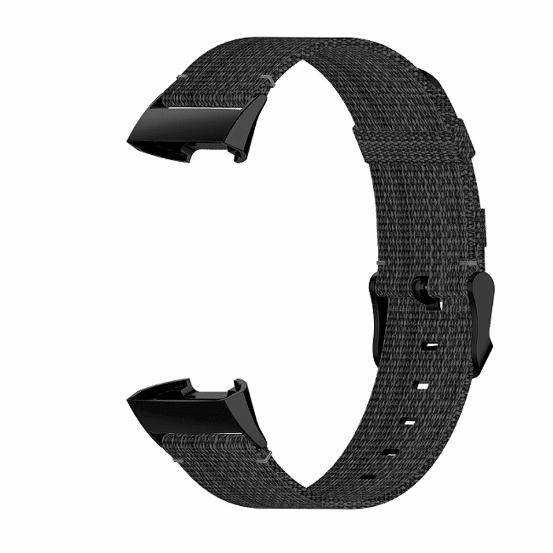 Fitbit Charge 4 bandje canvas grijs - Onlinebandjes.nl