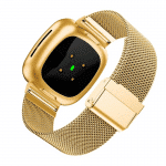 Fitbit Sense bandje rvs goud druksluiting – Onlinebandjes.nl