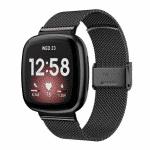 Fitbit Versa 3 bandje rvs zwart druksluiting – Onlinebandjes.nl