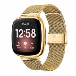 Fitbit Versa 3 rvs goud druksluiting – Onlinebandjes.nl