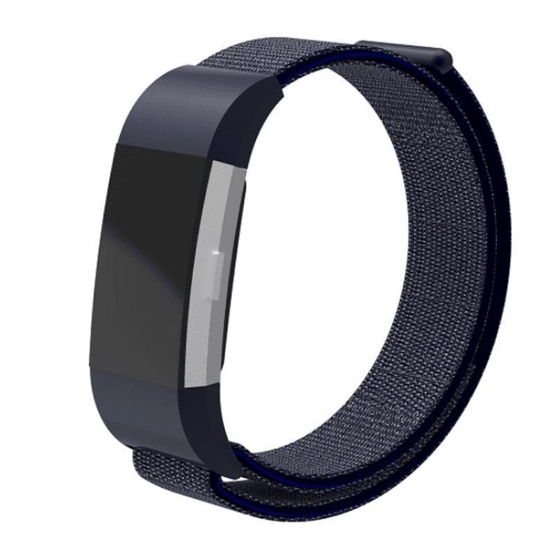 Fitbit charge 2 bandje nylon midnight blue - Onlinebandjes.nl