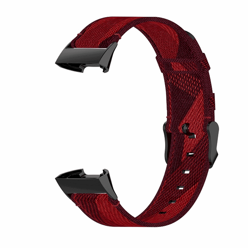 Fitbit charge 3 bandje canvas rood - Onlinebandjes.nl