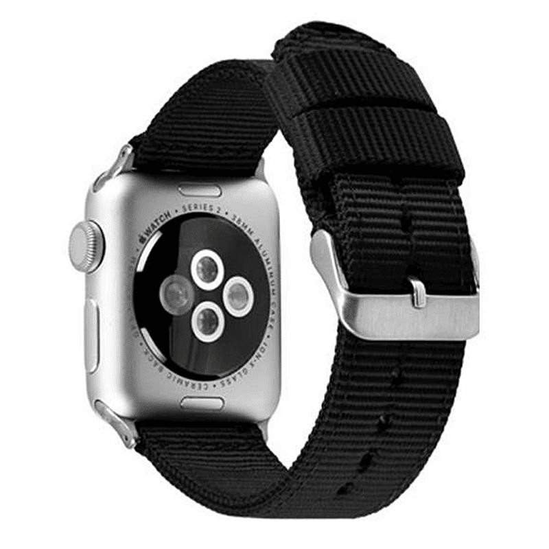 Apple Watch bandje zwart nylon - Onlinebandjes.nl