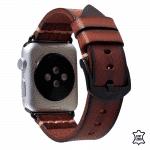 Apple watch bandje leer geel bruin