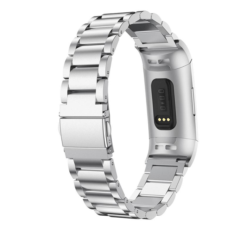 Fitbit Charge 3 bandje rvs zilver - Onlinebandjes.nl