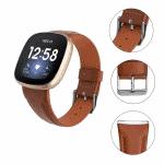 Fitbit Versa 3 bandje bruin leer – Onlinebandjes.nl