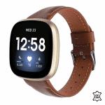 Fitbit Versa 3 bandje leer bruin – Onlinebandjes.nl