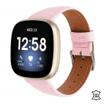 Fitbit Versa 3 bandje leer roze – Onlinebandjes.nl