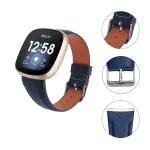 Fitbit Versa bandje blauw leer – Onlinebajdes.nl