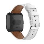 Fitbit Versa bandje leer wit – Onlinebandjes.nl