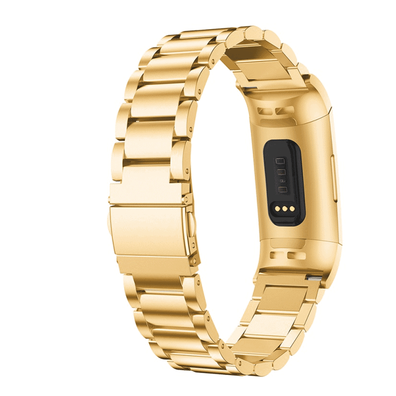 Fitbit charge 3 bandje rvs goud - Onlinebandjes.nl