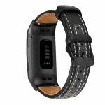 Fitbit charge 4 bandje leer zwart – Onlinebandjes..nl