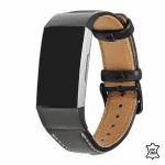 Fitbit charge 4 bandje leer zwart – Onlinebandjes.nl