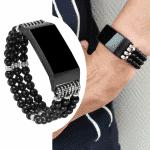 Fitbit charge bandje kralen elastisch – Onlinebandjes.nl