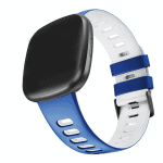 Fitbit sense sport bandje blauw wit – Onlinebandjes.nl