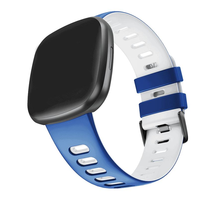 Fitbit sense sport bandje blauw wit - Onlinebandjes.nl