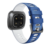 Fitbit versa 3 sport bandje blauw wit – Onlinebandjes.nl