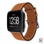 Fitbit versa 2 bandje leer bruin – Onlinebandjes.nl