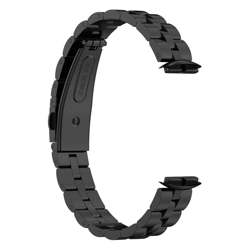 Fitbit Luxe bandje RVS zwart - Onlinebandjes.nl