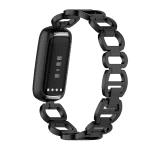 Fitbit bandje luxe rvs zwart – Onlinebandjes.nl